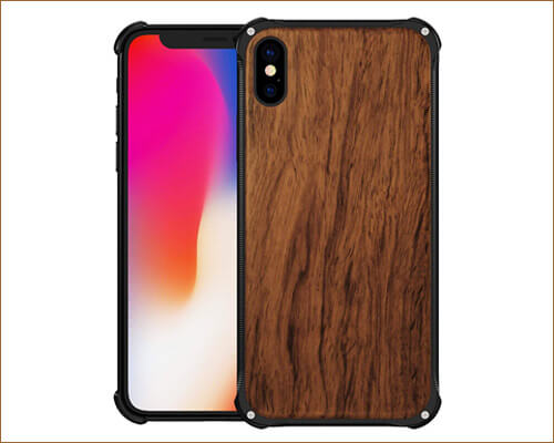 NOHON iPhone XS Max Wooden Case