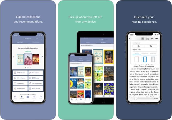 NOOK eBook Reader iPhone and iPad App Screenshot