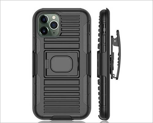Nakedcellphone Belt Clip Holster Case for iPhone 11 Pro