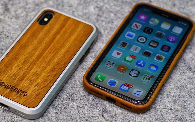 Natural Wooden Cases for iPhone X, Xs, XR, and iPhone Xs Max