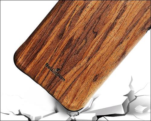 NeWisdom Wooden Case for iPhone 8 Plus