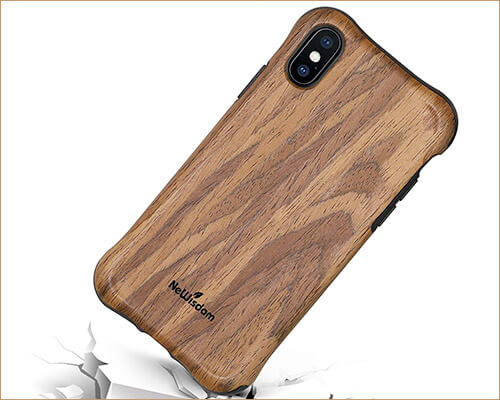NeWisdom Wooden Case for iPhone X