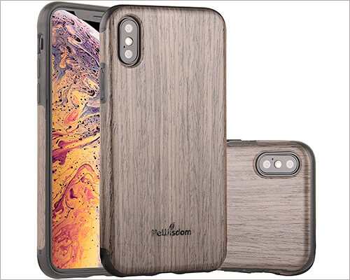 NeWisdom Wooden Case for iPhone Xs