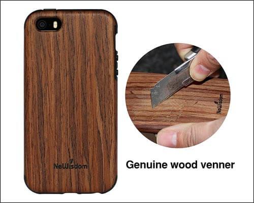NeWisdom iPhone SE Wood Case