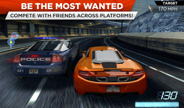 Need for Speed - Most Wanted iPad and iPhone Game Screenshot