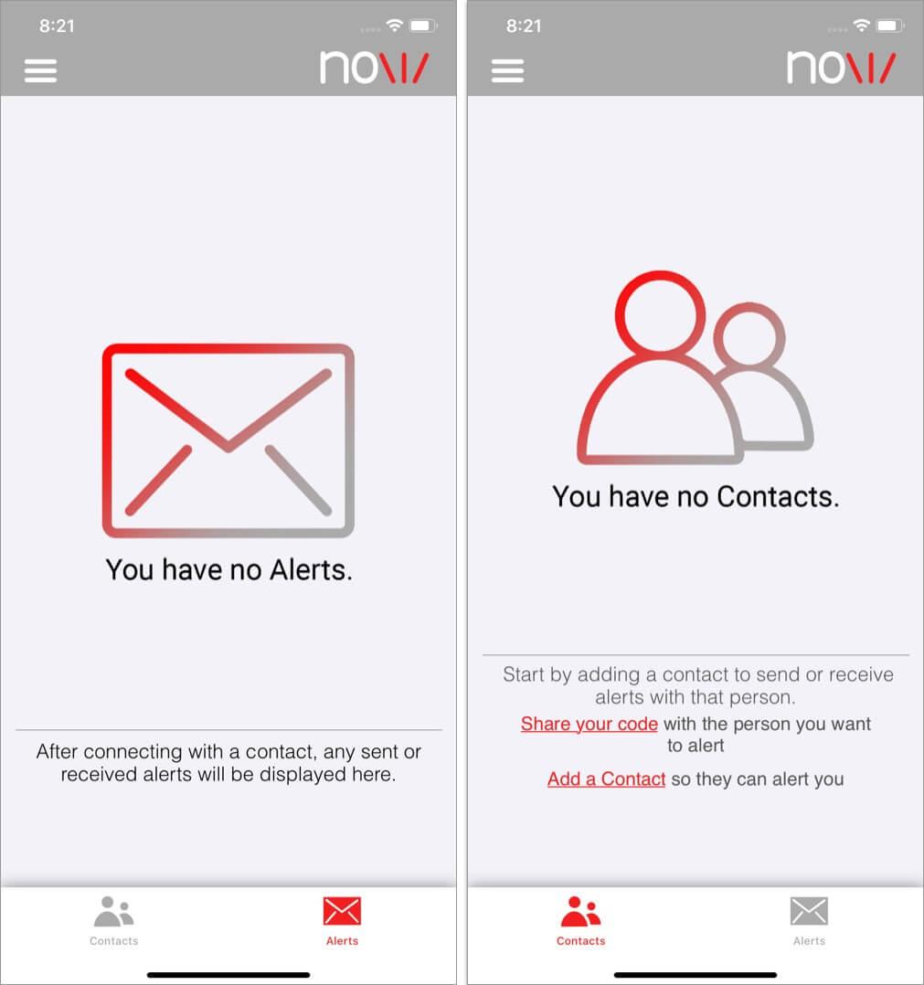 NeedUNow iPhone Android App User Interface