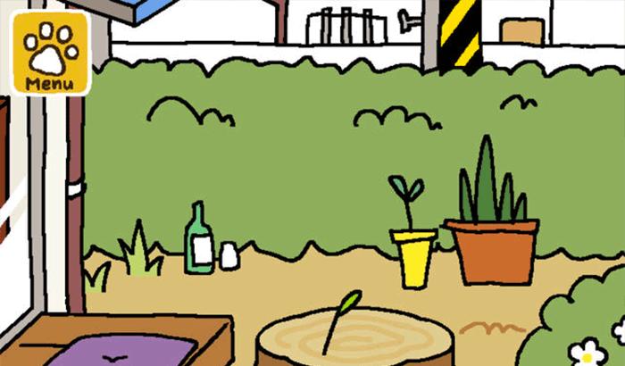 Neko Atsume iPhone and iPad Game Screenshot