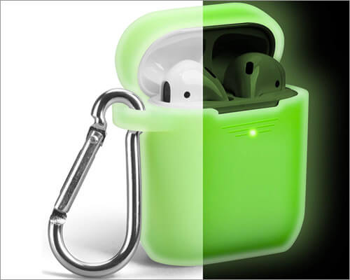 Neon Green Glowing-Case for AirPods from GMYLE