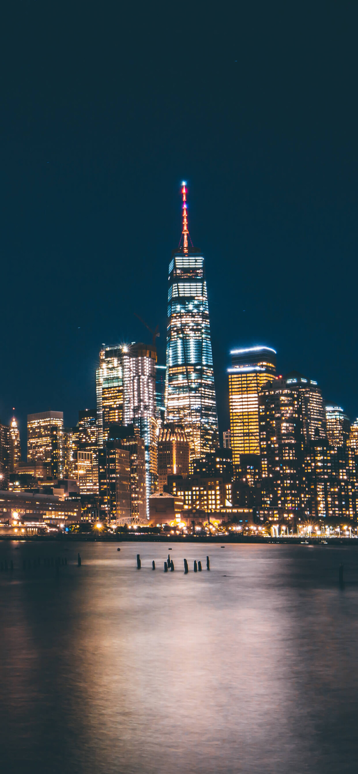 New York City Lights iPhone XS Max Wallpaper