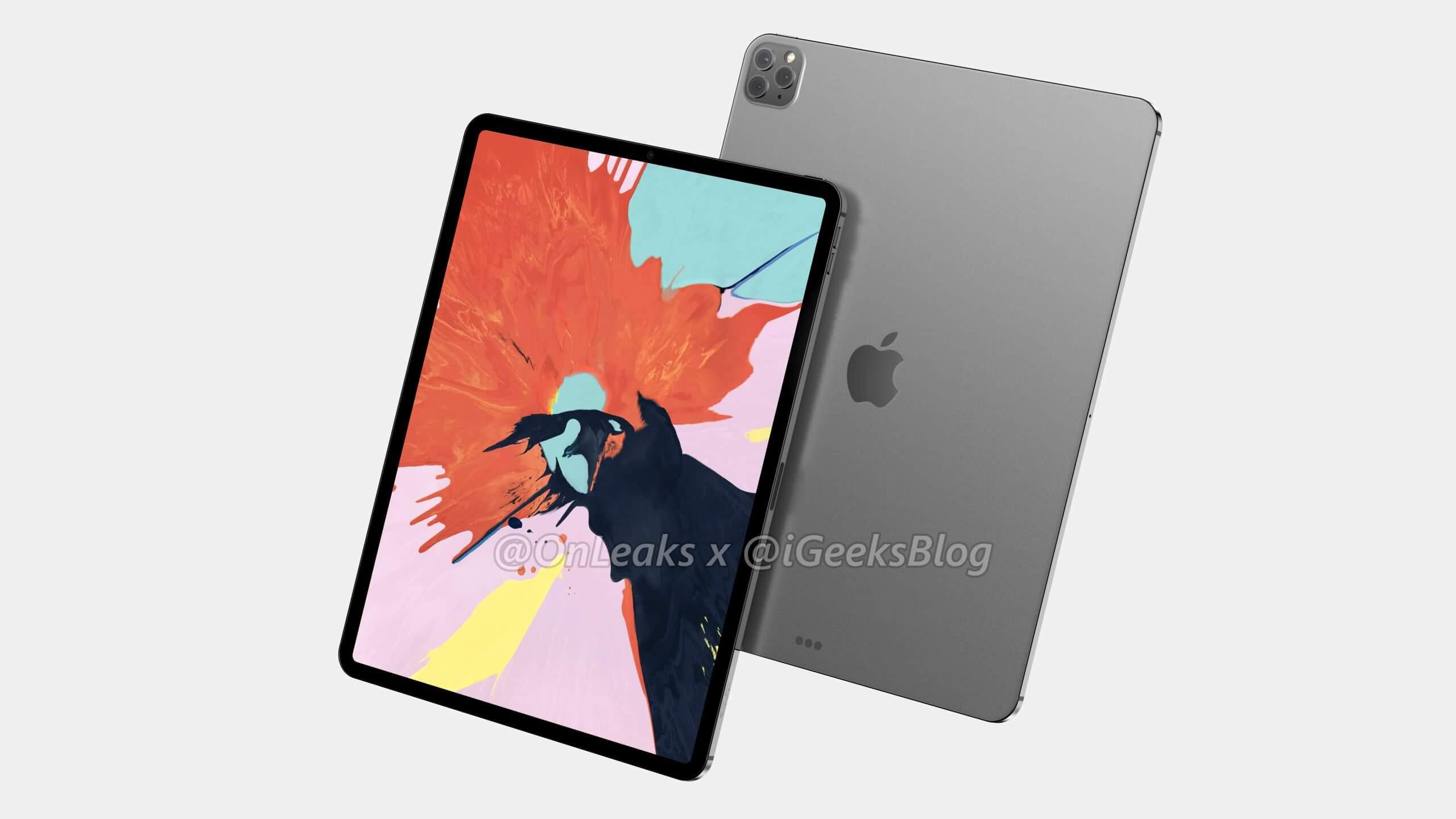 New render show 2020 12.9-inch iPad Pro
