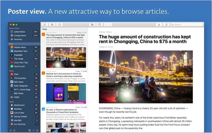 News Explorer best RSS feed reader app for Mac