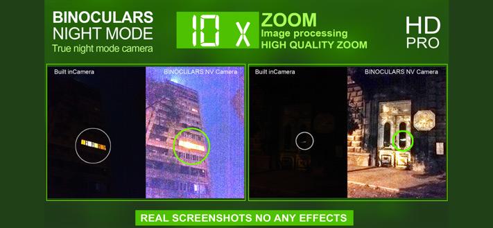 Night Vision Zoom 10x Camera iPhone App Screenshot