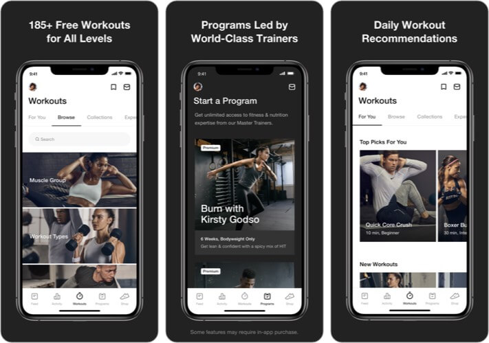 Nike Training Club iPhone App Screenshot
