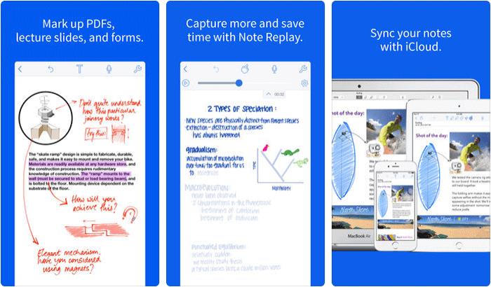 Notability iPhone and iPad App Screenshot