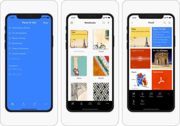 Notebook best iPhone business meeting app screenshot