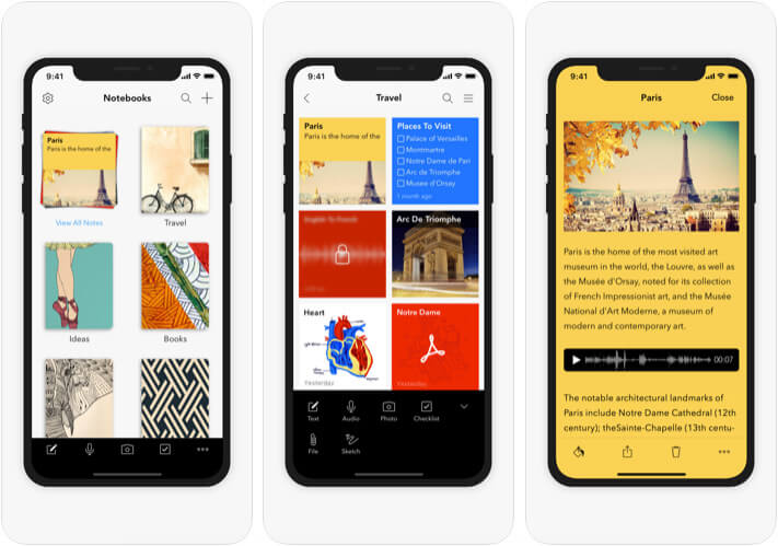 Notebook iOS App Screenshot
