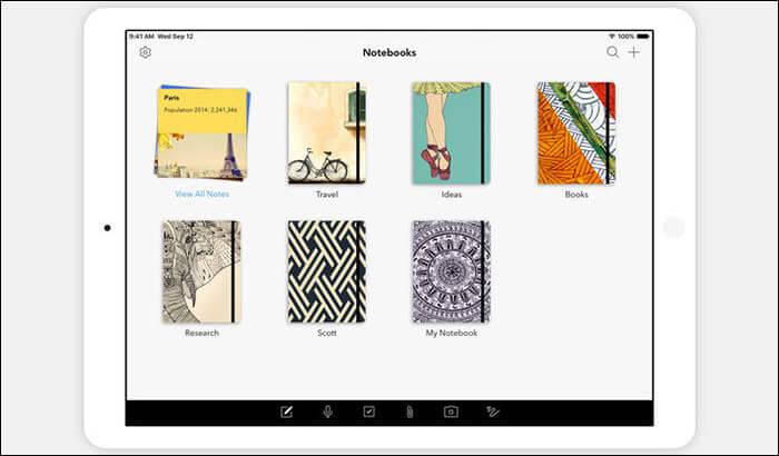 Notebook iPad Note Taking App Screenshot