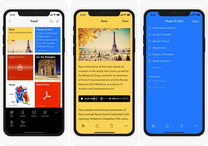 Notebook iPhone and iPad App Screenshot