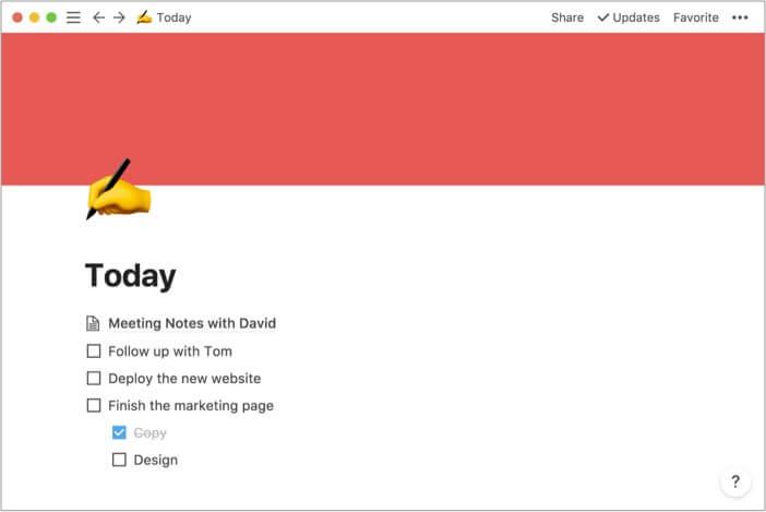 Notion лучшее приложение для заметок для Mac