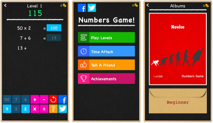 Numbers Game iPhone and iPad Screenshot