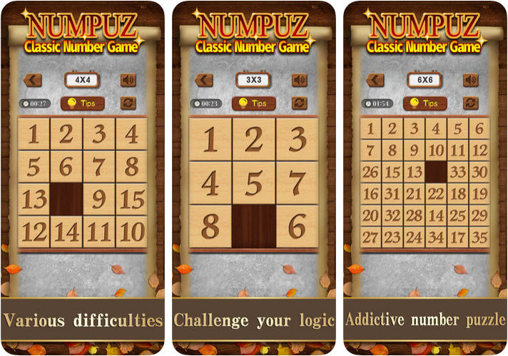 Numpuz Classic Number Game for iPhone and iPad