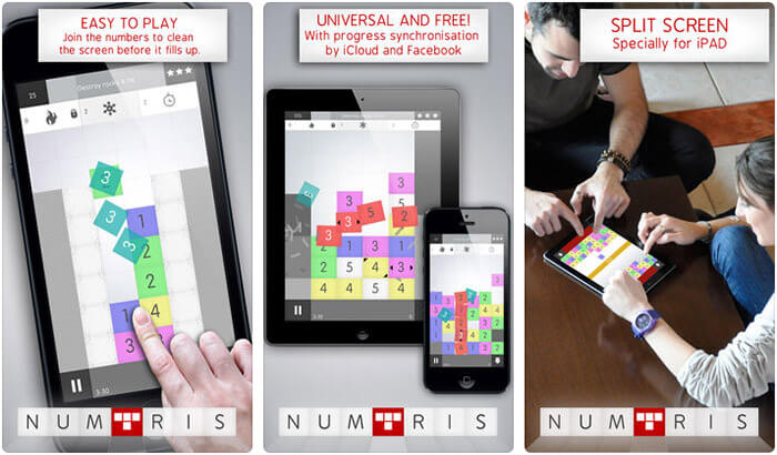 Numtris iPhone and iPad Math Puzzle Game Screenshot