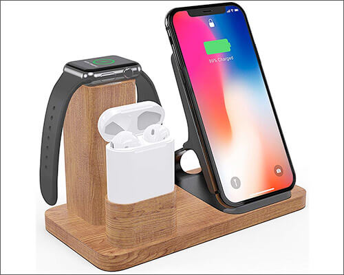 OLVOO iPhone Xs Max, Xs, and iPhone XR Wireless Docking Station