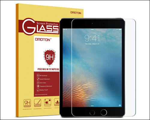 OMOTON 2018 iPad 9.7-inch Tempered Glass Screen Protector