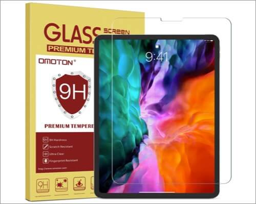 OMOTON Tempered Glass Screen Protector for 12.9-inch iPad Pro 4th Gen