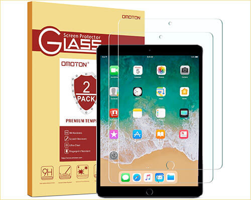 OMOTON iPad Air 10.5-inch Tempered Glass Screen Protector