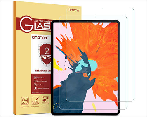 OMOTON iPad Pro 12.9-inch 2018 Tempered Glass Screen Protector