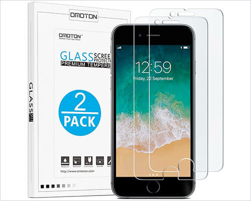 OMOTON iPhone 7 Plus Tempered Glass Screen Protector
