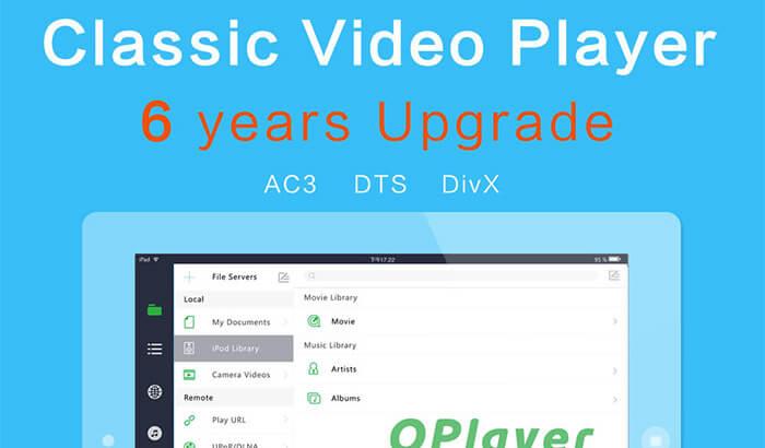 OPlayerHD Lite iPad App Screenshot