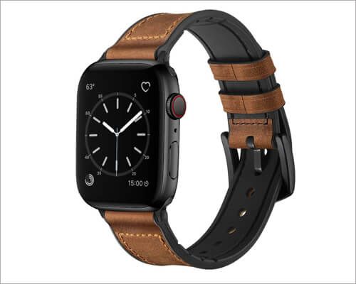 OUHENG Apple Watch Series 5 Leather Band