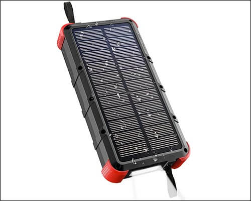 OUTXE Solar Power Bank for iPhone X, 8, and iPhone 8 Plus