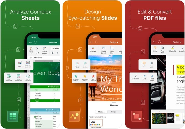 OfficeSuite & PDF editor iPhone and iPad App Screenshot
