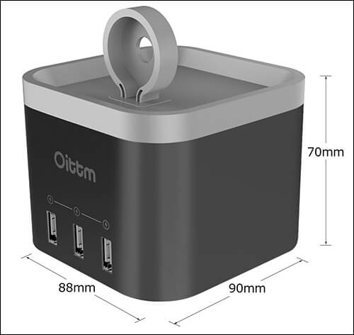 Oittm Apple Watch Stand Dimensions