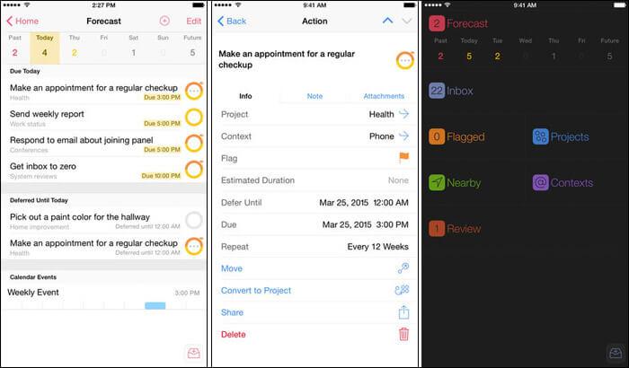 OmniFocus 2 Managing Schoolwork iPhone and iPad App Screenshot