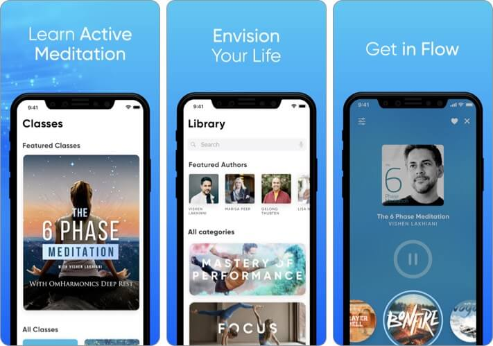 Omvana Meditation iPhone and iPad App Screenshot