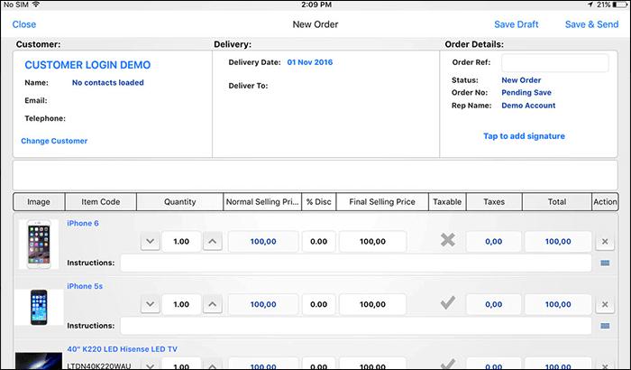 Onsight Sales Business iPad App Screenshot