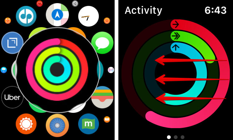 Open Activity App and Swipe the Screen To Right