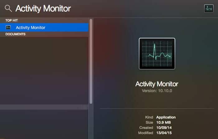 Open Activity Monitor on Mac