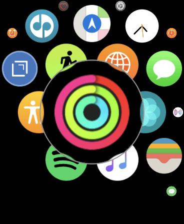 Open Activity app on Apple Watch