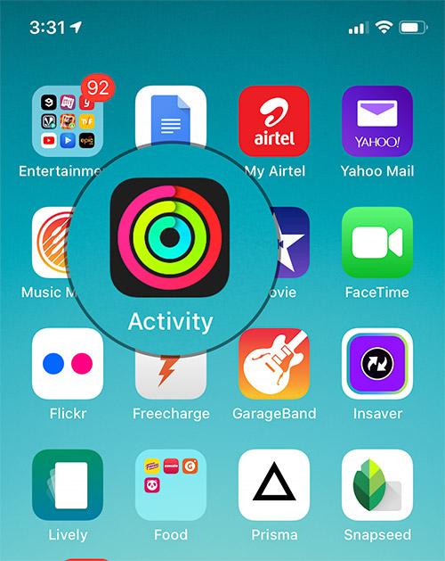 Open Activity app on iPhone