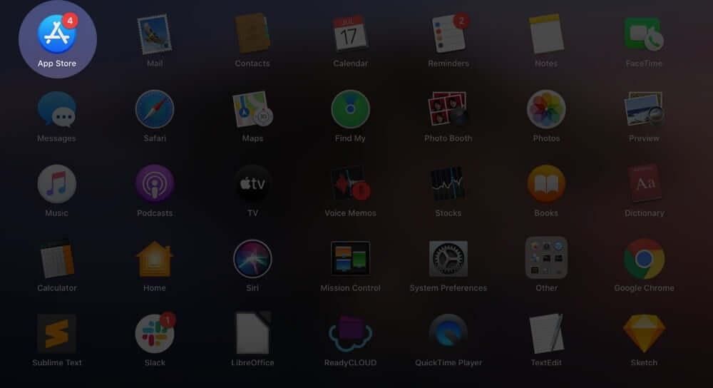 Open App Store on Mac