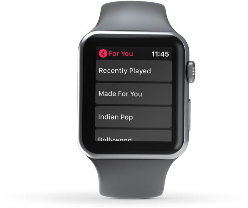 Open For You and Choose Preferred Option to Play Songs on Apple Watch