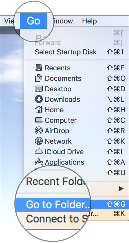 Open Go To Folder on Mac