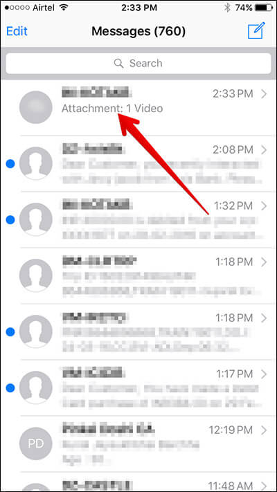 Open Message That Contains Photo or Video on iPhone