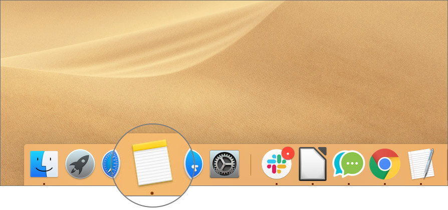 Open Notes App on Mac