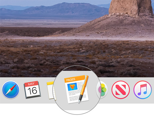 Open Pages app on Mac